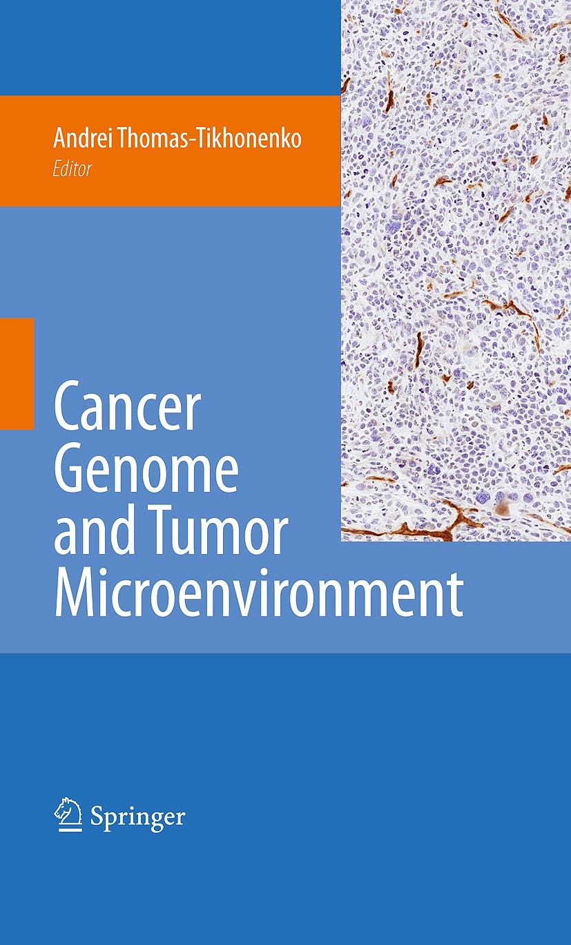 Portada del libro 9781441907103 Cancer Genome and Tumor Microenvironment