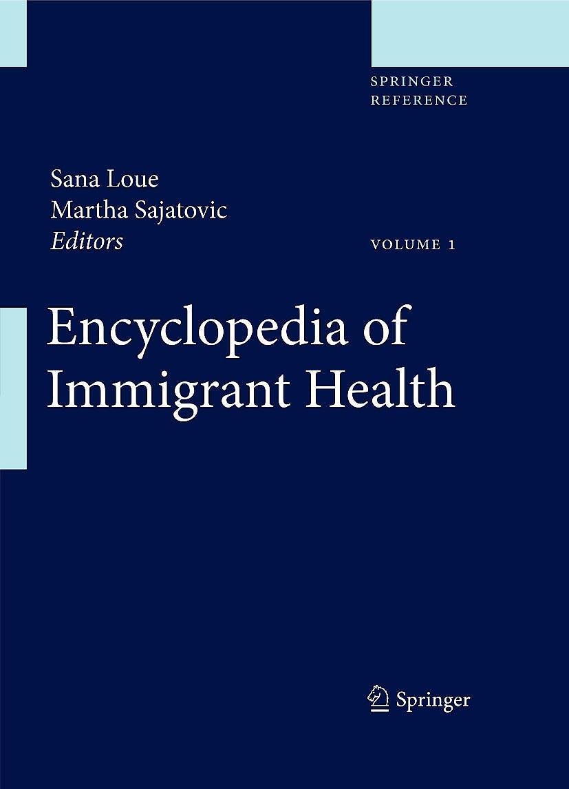 Portada del libro 9781441956606 Encyclopedia of Immigrant Health, 3 Vols. (Online and Print)