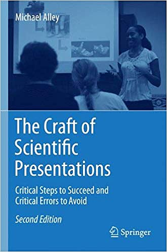 Portada del libro 9781441982780 The Craft of Scientific Presentations. Critical Steps to Succeed and Critical Errors to Avoid