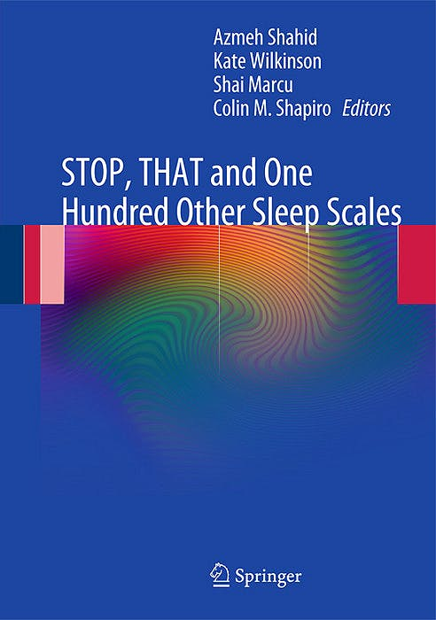 Portada del libro 9781441998927 Stop, That and One Hundred Other Sleep Scales (Hardcover)