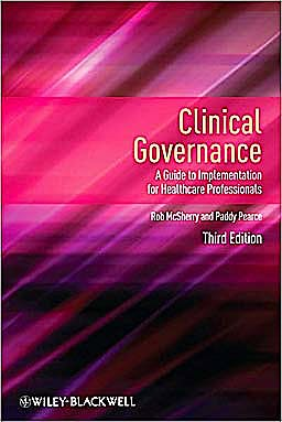 Portada del libro 9781444331110 Clinical Governance