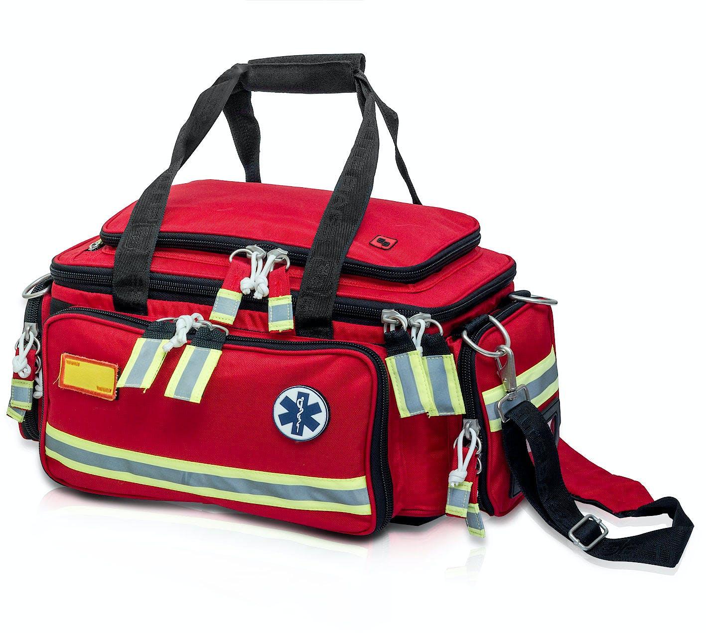 Bolsa de Emergencias para Soporte Vital Básico Modelo Extreme's EB02.008, Color Rojo