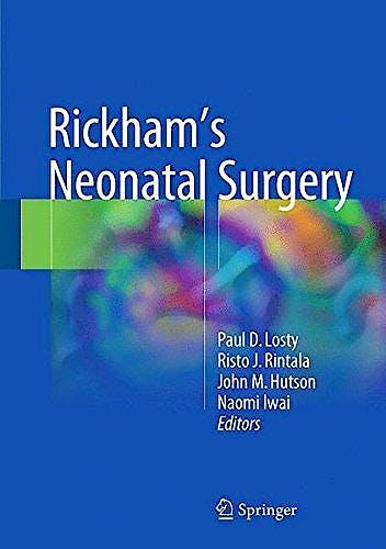 Portada del libro 9781447147206 Rickham's Neonatal Surgery, 2 vols.