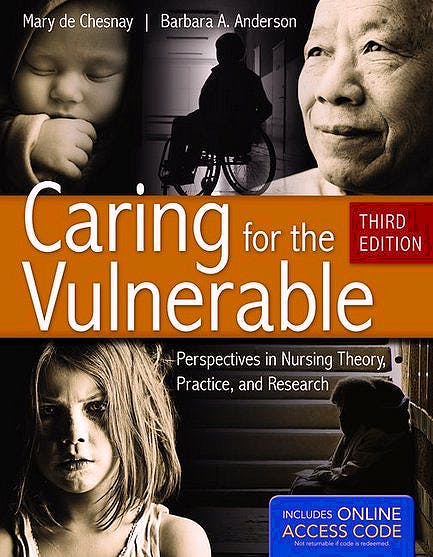 Portada del libro 9781449635923 Caring for the Vulnerable. Perspectives in Nursing Theory, Practice, and Research