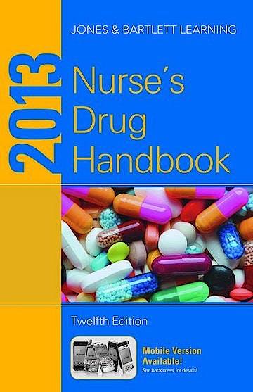 Portada del libro 9781449642846 Nurse's Drug Handbook 2013