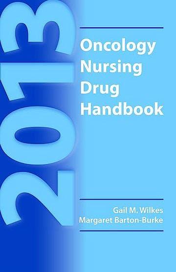 Portada del libro 9781449698577 Oncology Nursing Drug Handbook 2013
