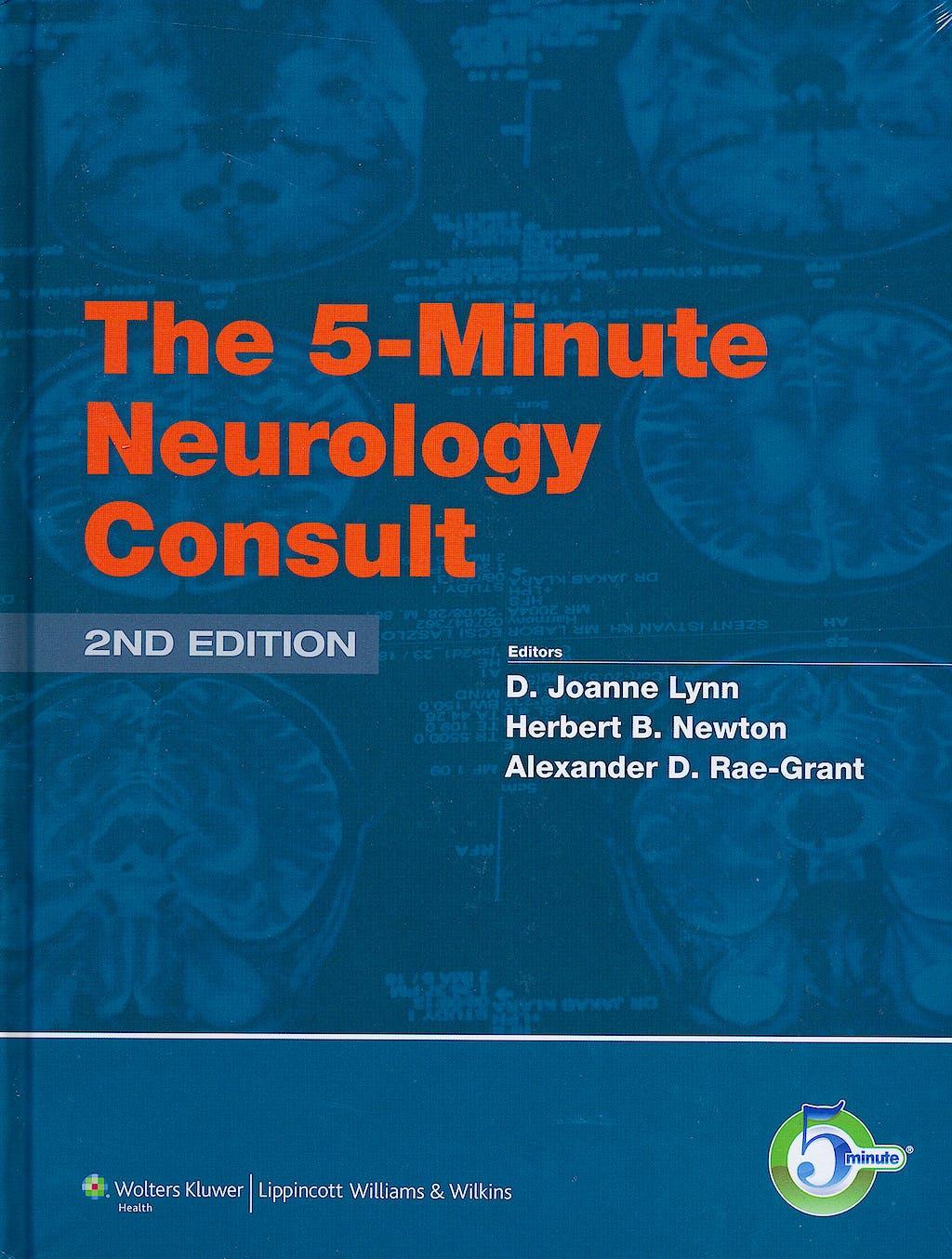 Portada del libro 9781451100129 The 5-Minute Neurology Consult