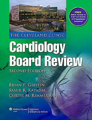 Portada del libro 9781451105377 The Cleveland Clinic Cardiology Board Review (Online and Print)