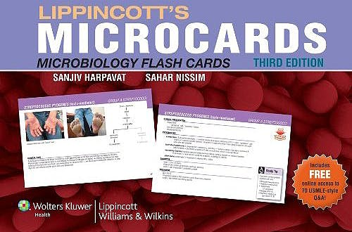 Portada del libro 9781451112191 Lippincott's Microcards (Microbiology Flash Cards)