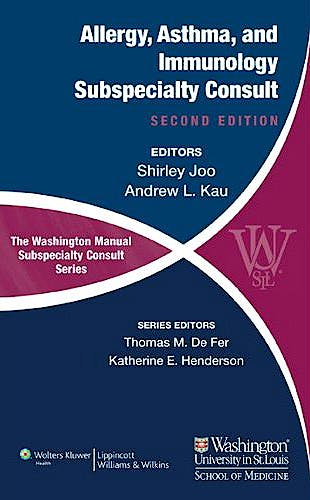Portada del libro 9781451113679 The Washington Manual of Allergy, Asthma, and Immunology Subspecialty Consult