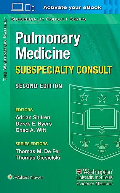 Portada del libro 9781451114171 The Washington Manual Pulmonary Medicine Subspecialty Consult