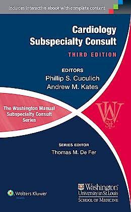 Portada del libro 9781451114225 The Washington Manual of Cardiology Subspecialty Consult