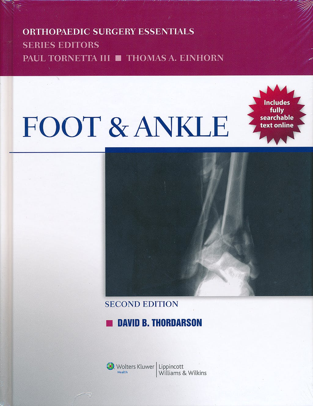 Portada del libro 9781451115963 Foot and Ankle. Orthopaedic Surgery Essentials (Online and Print)