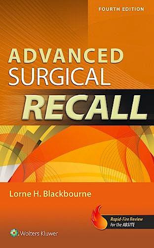Portada del libro 9781451116533 Advanced Surgical Recall
