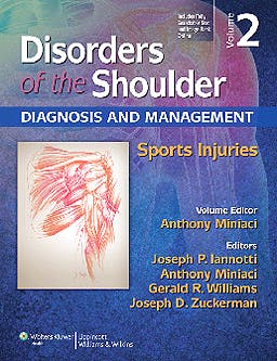 Portada del libro 9781451130584 Disorders of the Shoulder. Diagnosis and Management, Vol. 2: Sports Injuries