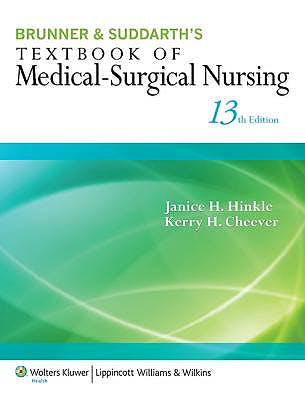 Portada del libro 9781451146653 Brunner and Suddarth's Textbook of Medical-Surgical Nursing (International Edition)