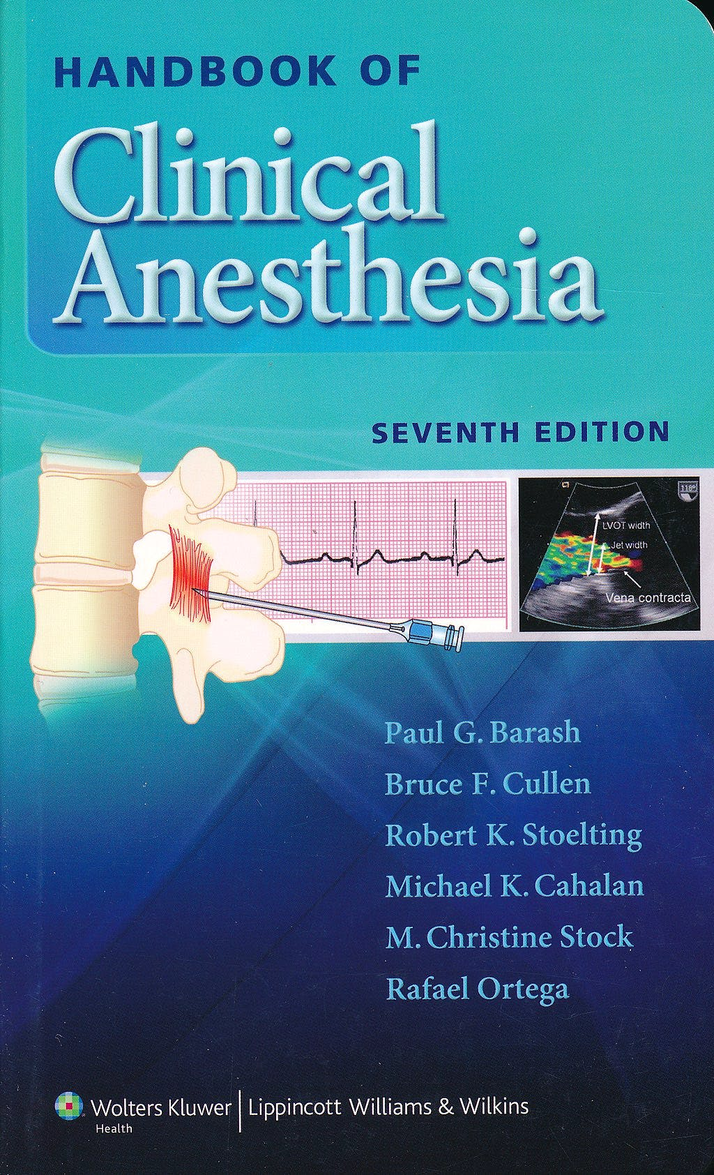 Portada del libro 9781451176155 Handbook of Clinical Anesthesia