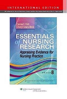 Portada del libro 9781451176803 Essentials of Nursing Research. Appraising Evidence for Nursing Practice