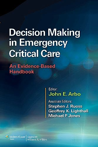 Portada del libro 9781451186895 Decision Making in Emergency Critical Care. an Evidence-Based Handbook