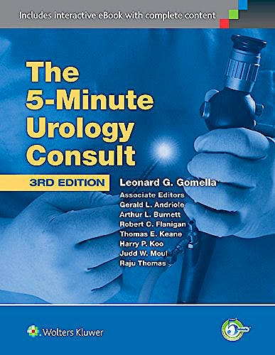 Portada del libro 9781451189988 The 5-Minute Urology Consult
