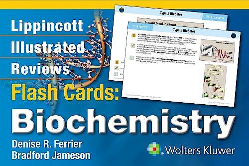 Portada del libro 9781451191110 Lippincott Illustrated Reviews Flash Cards: Biochemistry