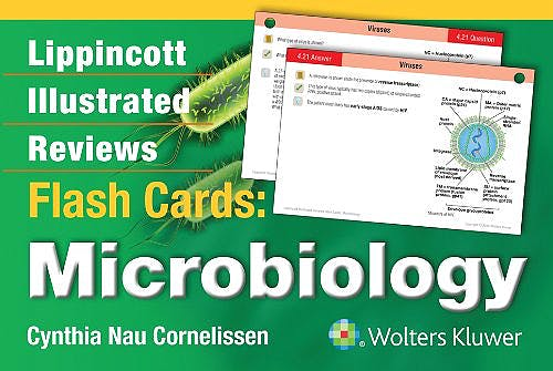 Portada del libro 9781451191172 Lippincott Illustrated Reviews Flash Cards: Microbiology