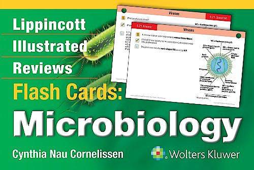 Portada del libro 9781451191172 Lippincott Illustrated Reviews Flash Cards: Microbiology