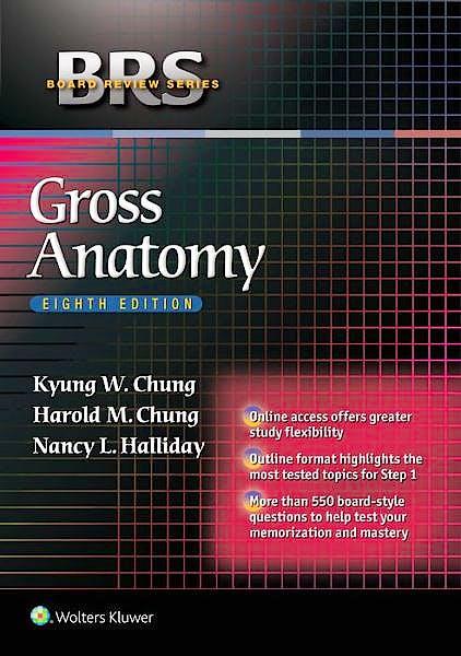 Portada del libro 9781451193077 BRS Gross Anatomy (Board Review Series) + Online Access
