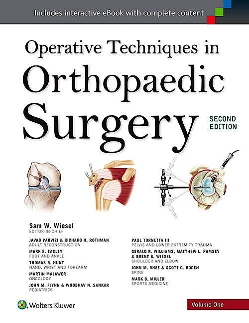 Portada del libro 9781451193145 Operative Techniques in Orthopaedic Surgery, 4 Vols.