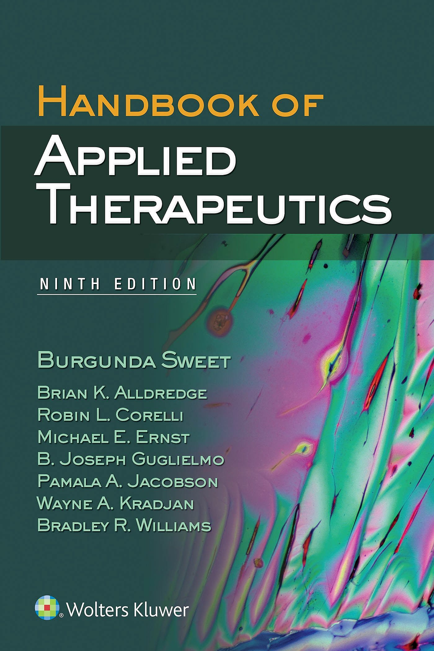 Portada del libro 9781451193459 Handbook of Applied Therapeutics