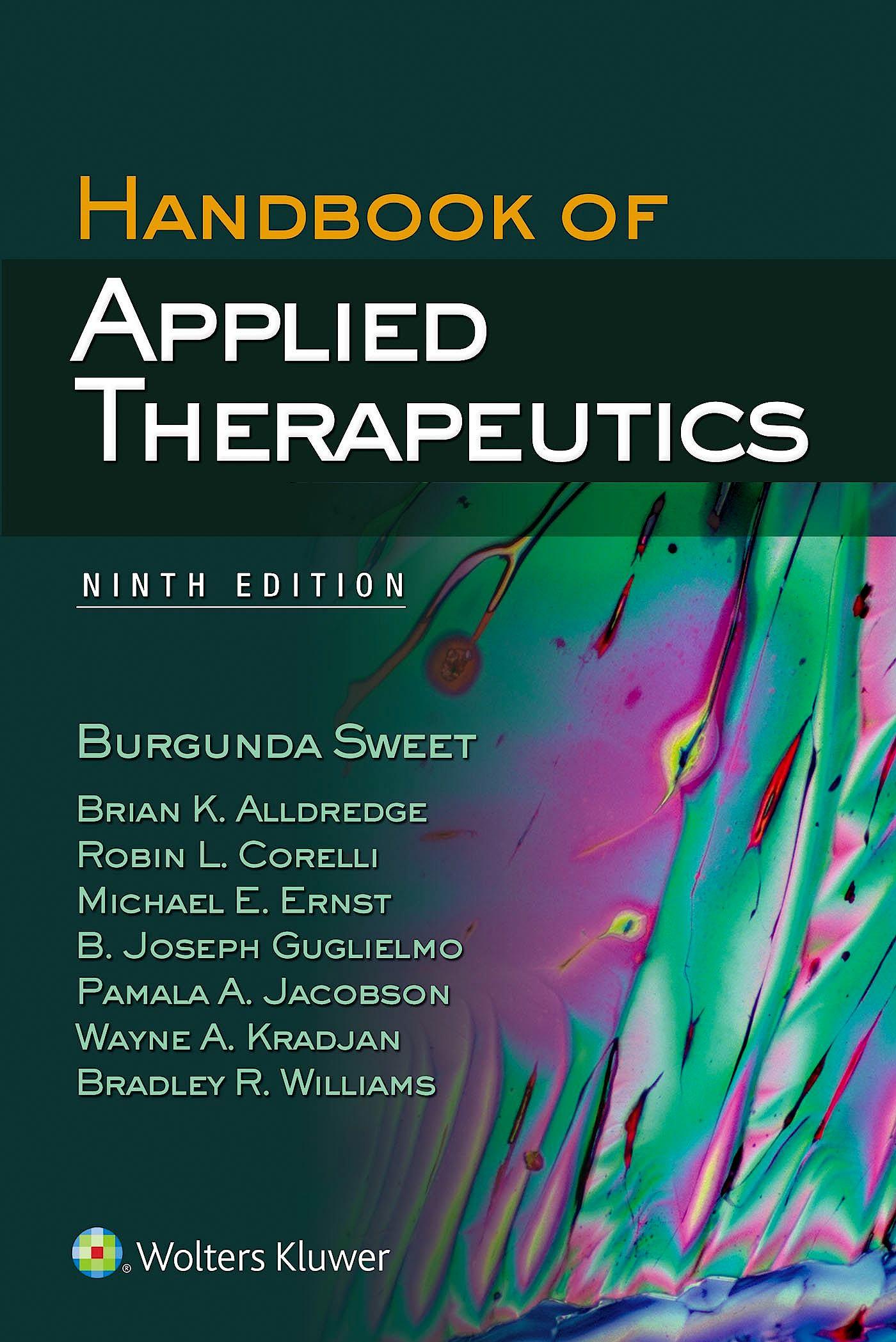 Portada del libro 9781451193459 Handbook of Applied Therapeutics