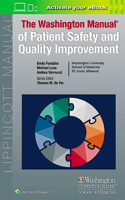 Portada del libro 9781451193558 The Washington Manual of Patient Safety and Quality Improvement