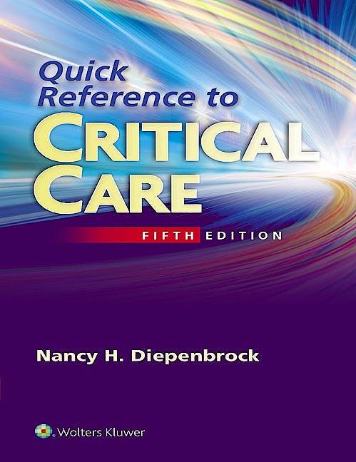 Portada del libro 9781451194265 Quick Reference to Critical Care