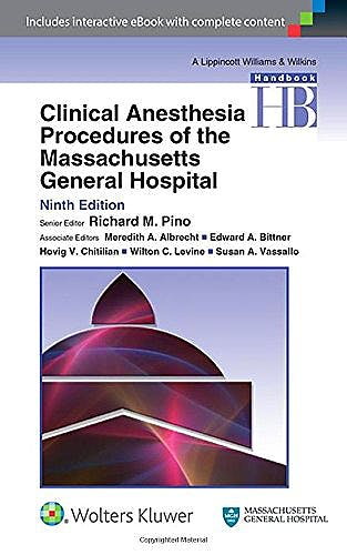 Portada del libro 9781451195156 Clinical Anesthesia Procedures of the Massachusetts General Hospital