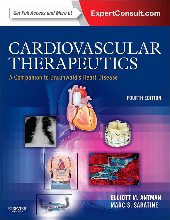 Portada del libro 9781455701018 Cardiovascular Therapeutics. a Companion to Braunwald's Heart Disease (Online and Print)