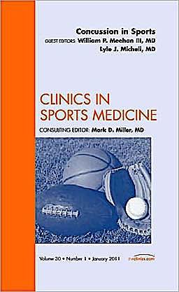 Portada del libro 9781455705061 Concussion in Sports, an Issue of Clinics in Sports Medicine, Volume 30-1