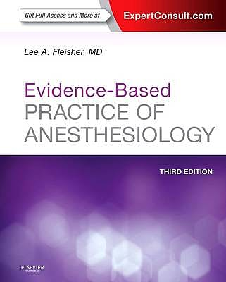 Portada del libro 9781455727681 Evidence-Based Practice of Anesthesiology (Online and Print)