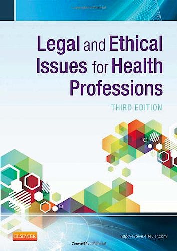 Portada del libro 9781455733668 Legal and Ethical Issues for Health Professions