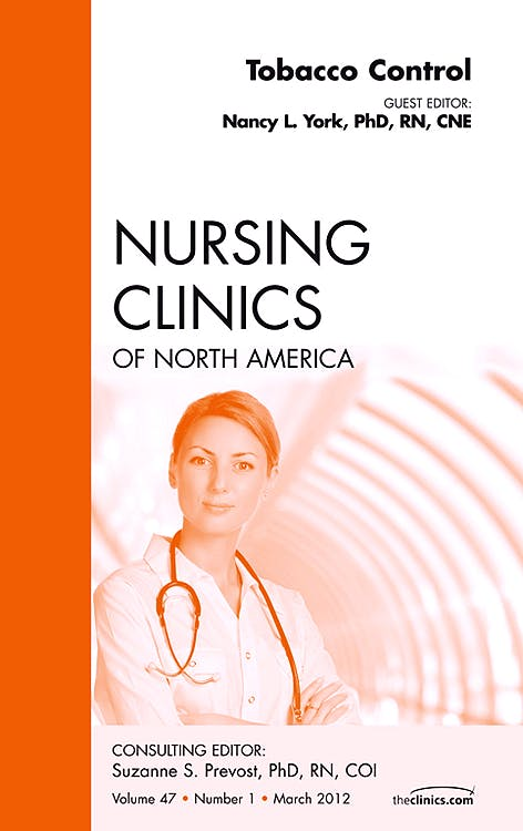 Portada del libro 9781455738984 Tobacco Control, an Issue of Nursing Clinics, Vol. 47-1