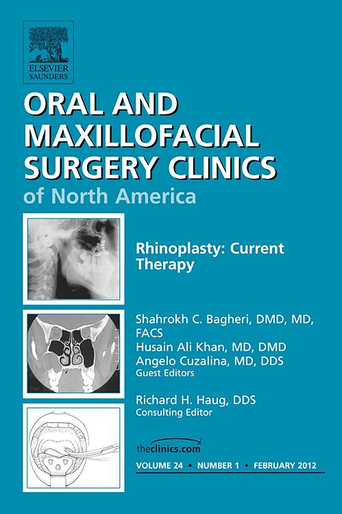 Portada del libro 9781455739028 Rhinoplasty: Current Therapy, an Issue of Oral and Maxillofacial Surgery Clinics, Vol. 24-1