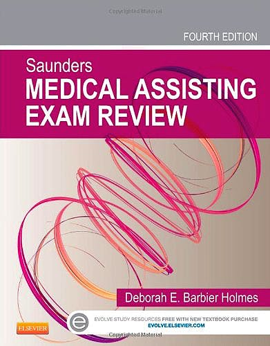 Portada del libro 9781455745005 Saunders Medical Assisting Exam Review + CD-ROM