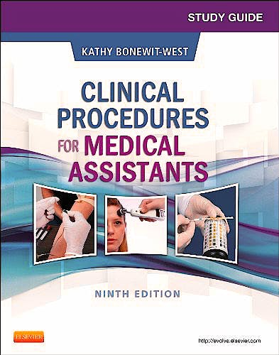 Portada del libro 9781455748358 Study Guide for Clinical Procedures for Medical Assistants