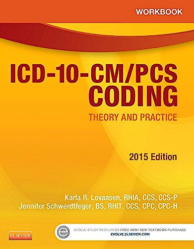 Portada del libro 9781455772612 Workbook for Icd-10-Cm/pcs Coding. Theory and Practice. 2015 Edition