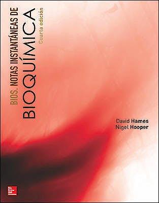 Portada del libro 9781456223786 Bios. Notas Instantáneas de Bioquímica