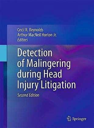 Portada del libro 9781461404415 Detection of Malingering during Head Injury Litigation