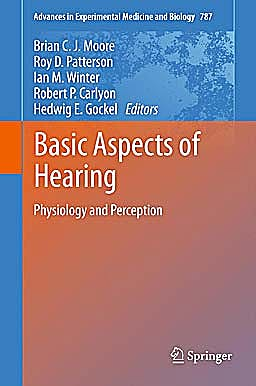 Portada del libro 9781461415893 Basic Aspects of Hearing. Physiology and Perception (Advances in Experimental Medicine and Biology, Vol. 787)