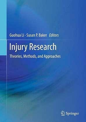 Portada del libro 9781461415985 Injury Research. Theories, Methods, and Approaches