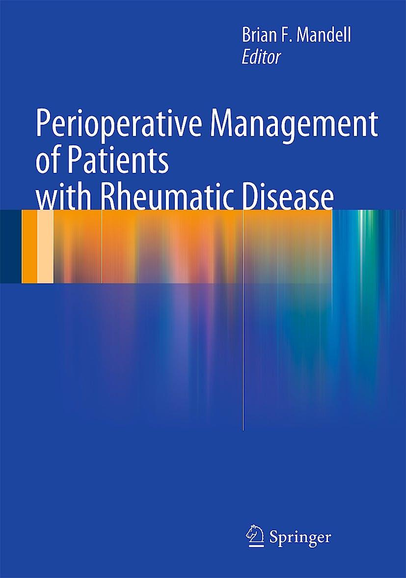 Portada del libro 9781461422020 Perioperative Management of Patients with Rheumatic Disease