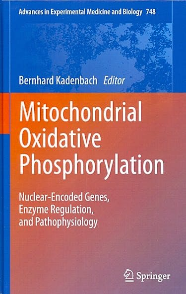 Portada del libro 9781461435723 Mitochondrial Oxidative Phosphorylation. Nuclear-Encoded Genes, Enzyme Regulation, and Pathophysiology (Advances in Experimental Medicine And…)
