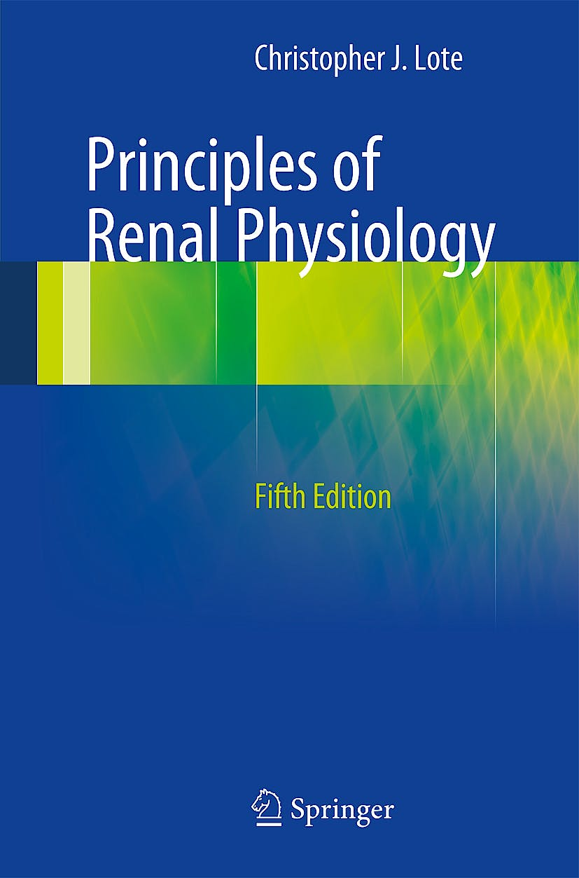Portada del libro 9781461437840 Principles of Renal Physiology
